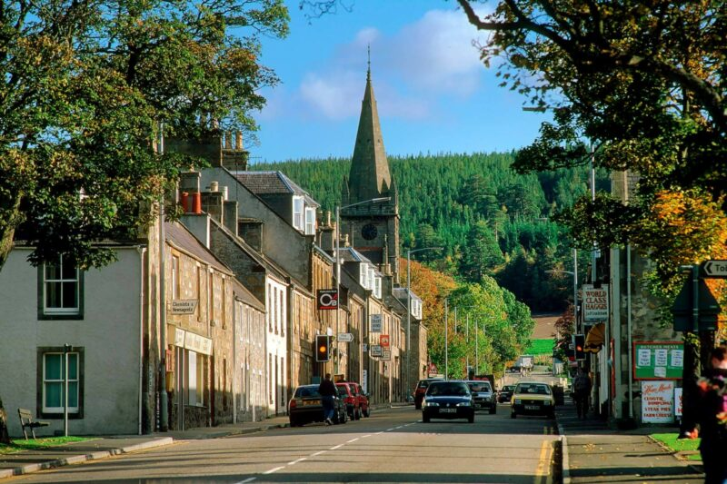 The village of Fochabers, Moray