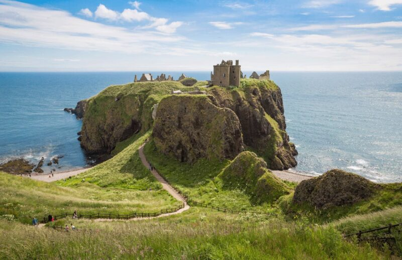 Dunnottar Castle view 1