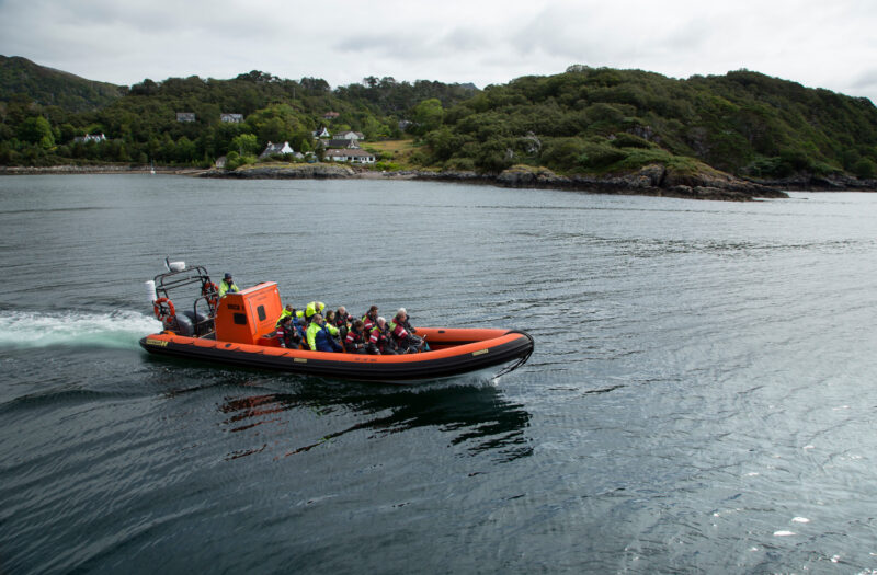 Orca 1 A Sea Going Rhib Rigid Hull Inflatable Boat Of Hebridean Whale Cruises Gairloch Highlands Of Scotland