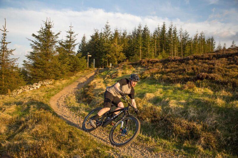 Professional Mountain Biker Ruaridh Cunningham At 7Stanes Innerleithen
