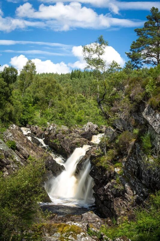 Rogie Falls Are A Series Of Waterfalls On The Black Water