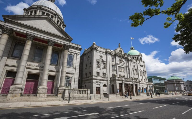 St Marks Church And His Majestys Theatre In Aberdeen