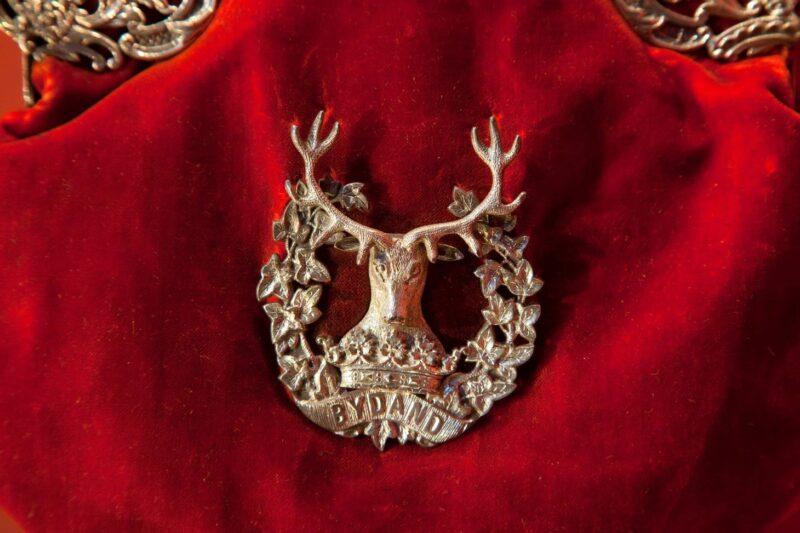 Stag crest at the Gordon Highlanders Museum Aberdeen