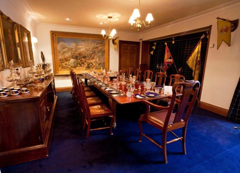 Dining room in the Gordon Highlanders Museum In Aberdeen