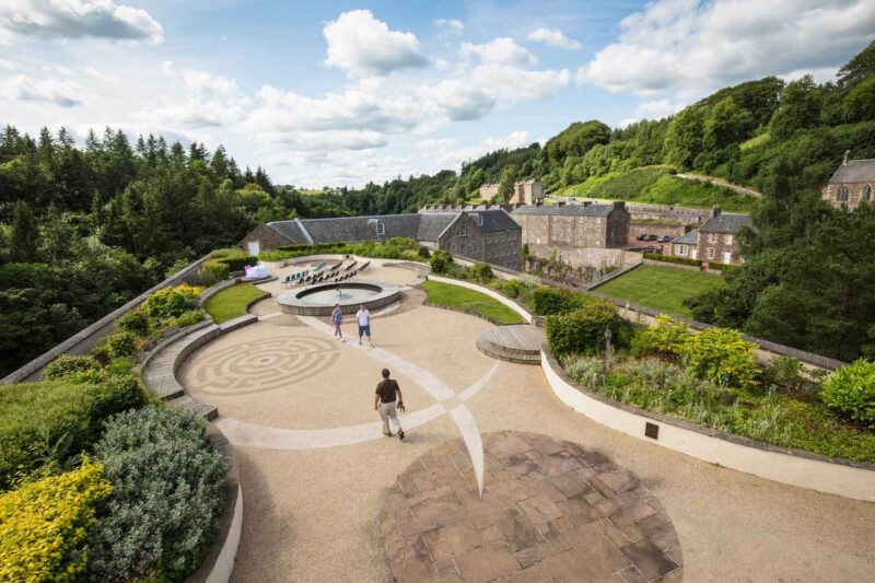 The Roof Garden At New Lanark Visitor Centre