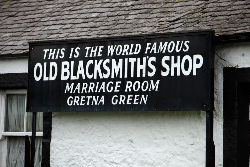 The World Famous Old Blacksmiths Shop Marriage Room Gretna Green Dumfries And Galloway view 2