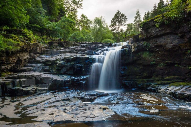 Waterfall At The Falls Of Clyde